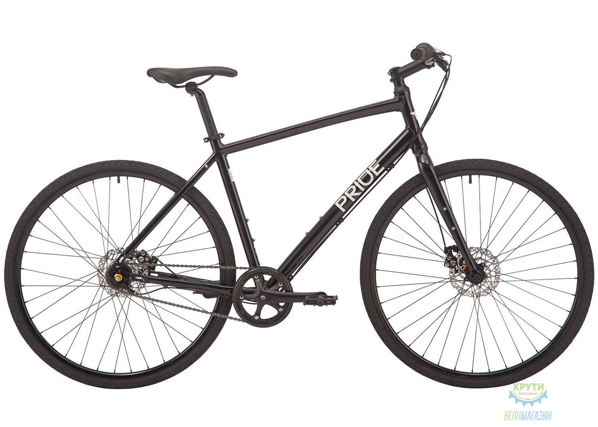 Велосипед 28 Pride Bullet disc рама - L черный глянец 2019