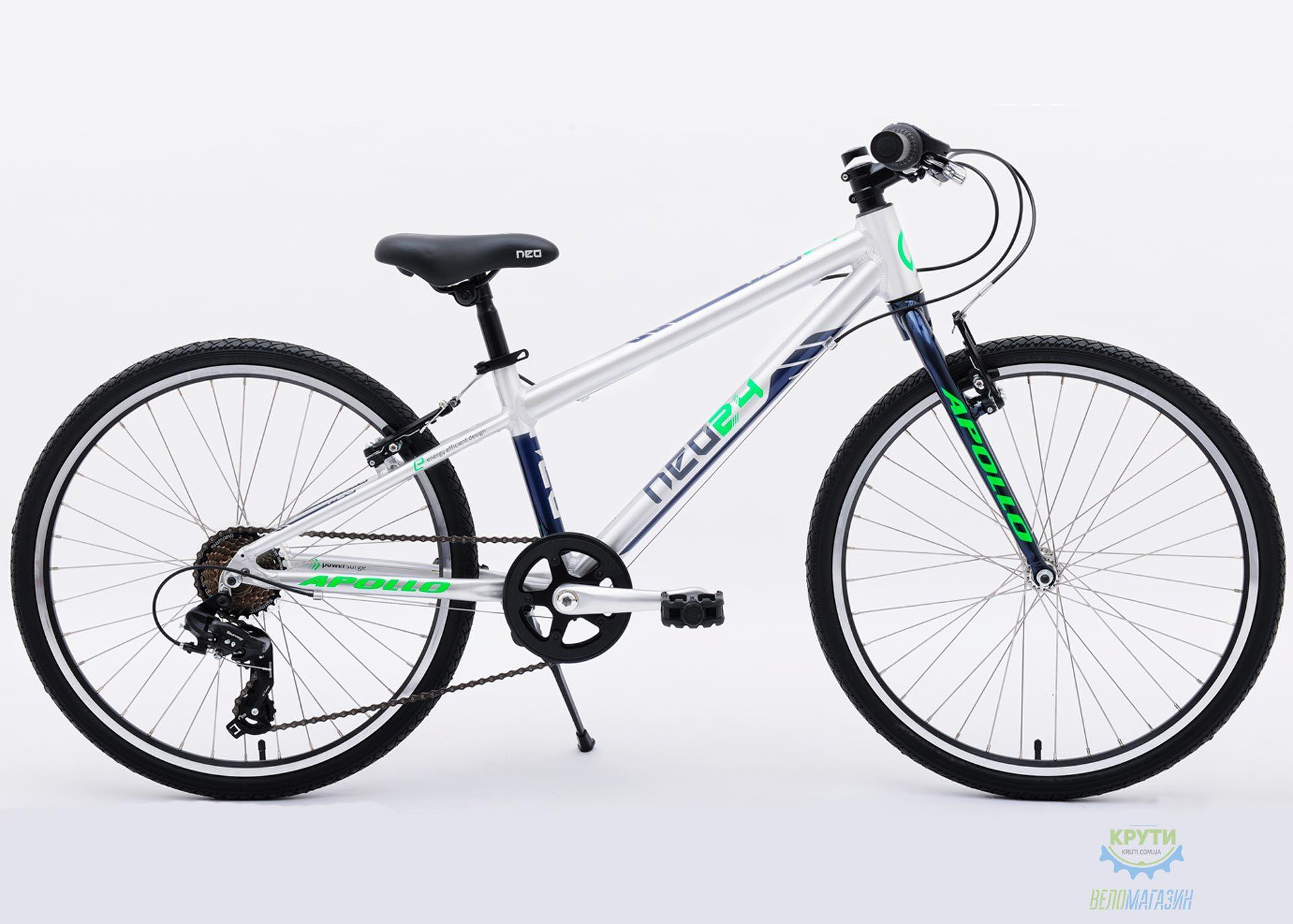 Велосипед 24 Apollo Neo 7s boys синий/салатовый 2018