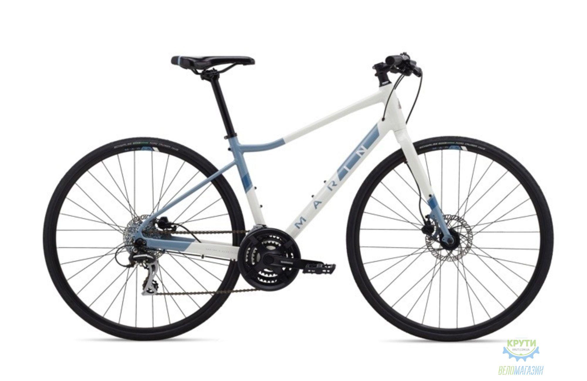 Велосипед 28 Marin TERRA LINDA 2 рама - L 2021 Gloss White/Ash Blue/Deep Blue
