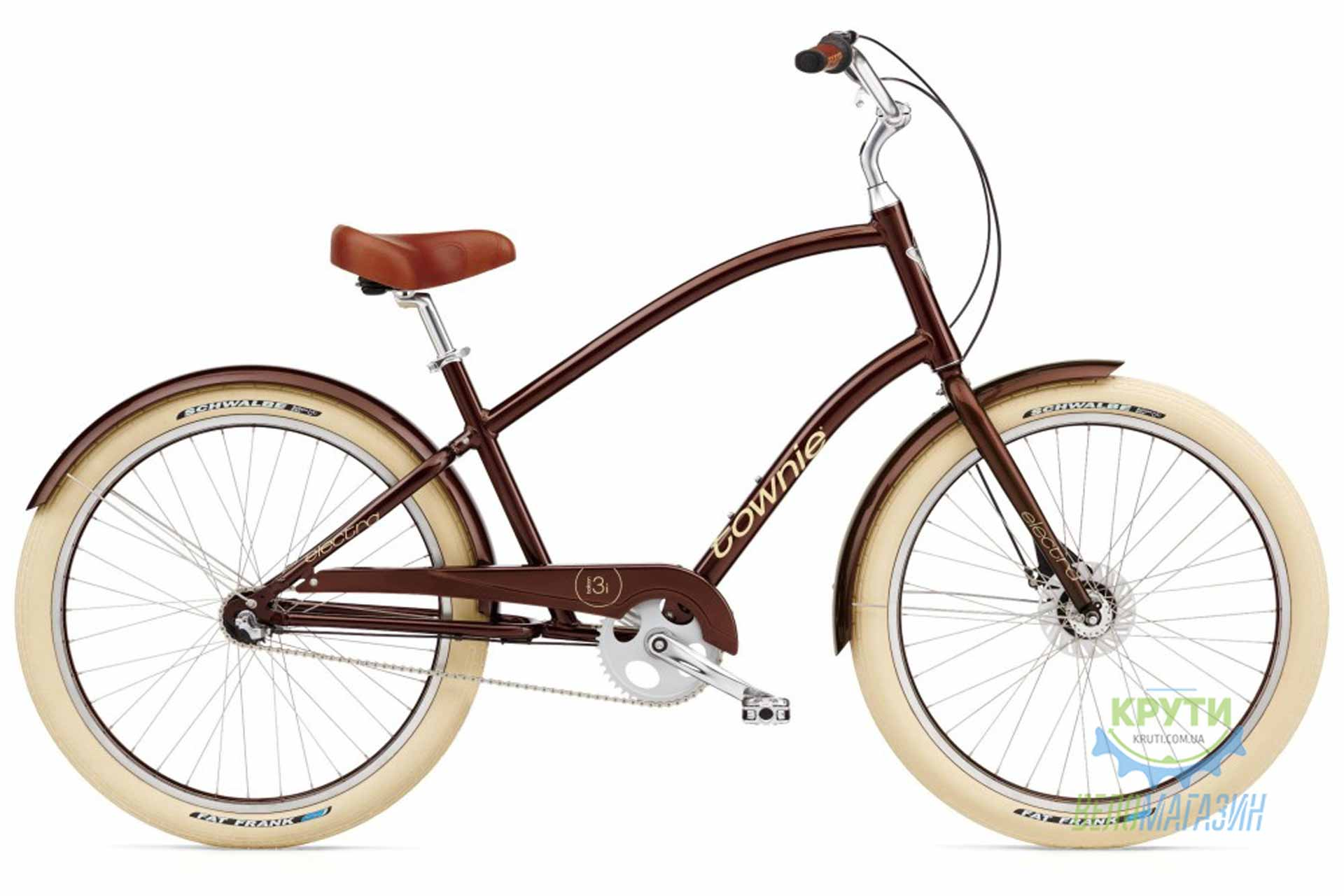 Велосипед 26 ELECTRA Townie Balloon 3i Men's Brown metallic