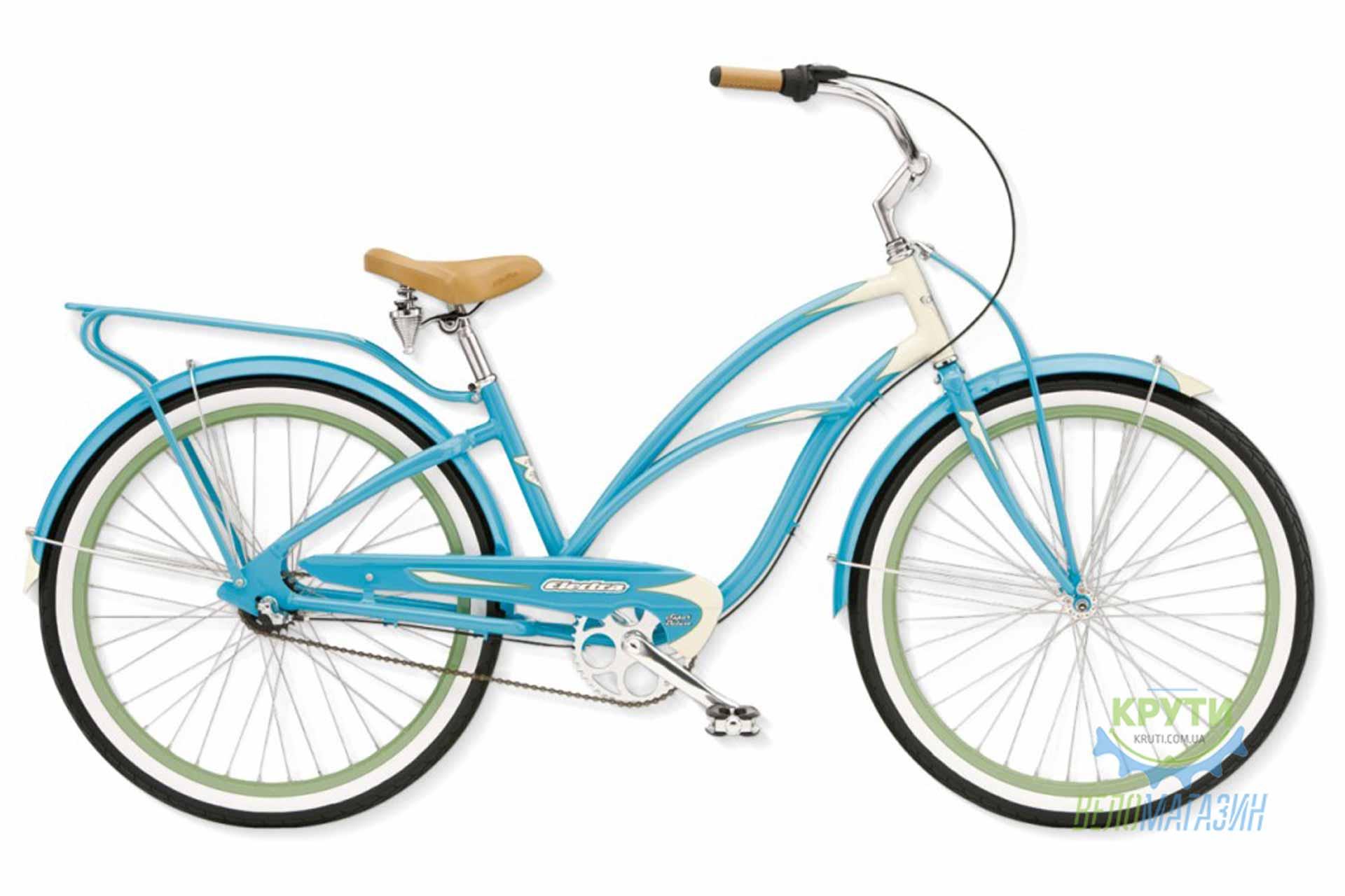 Велосипед 26 Electra Super Deluxe 3i Ladies' (Alloy) Aqua/Cream