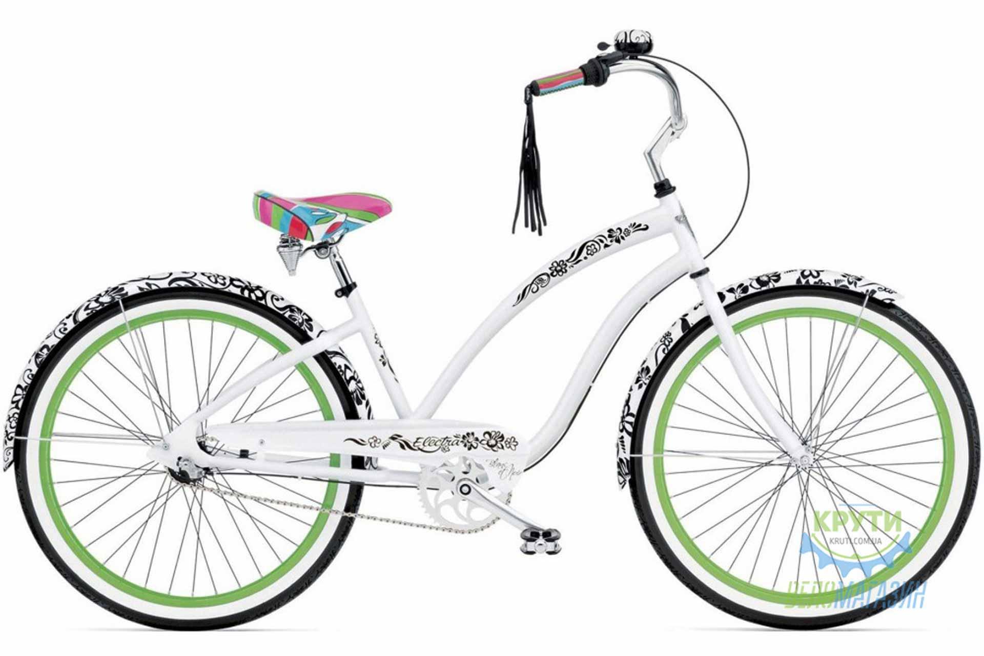 Велосипед 26 ELECTRA Blanc et Noir 3i Ladies White