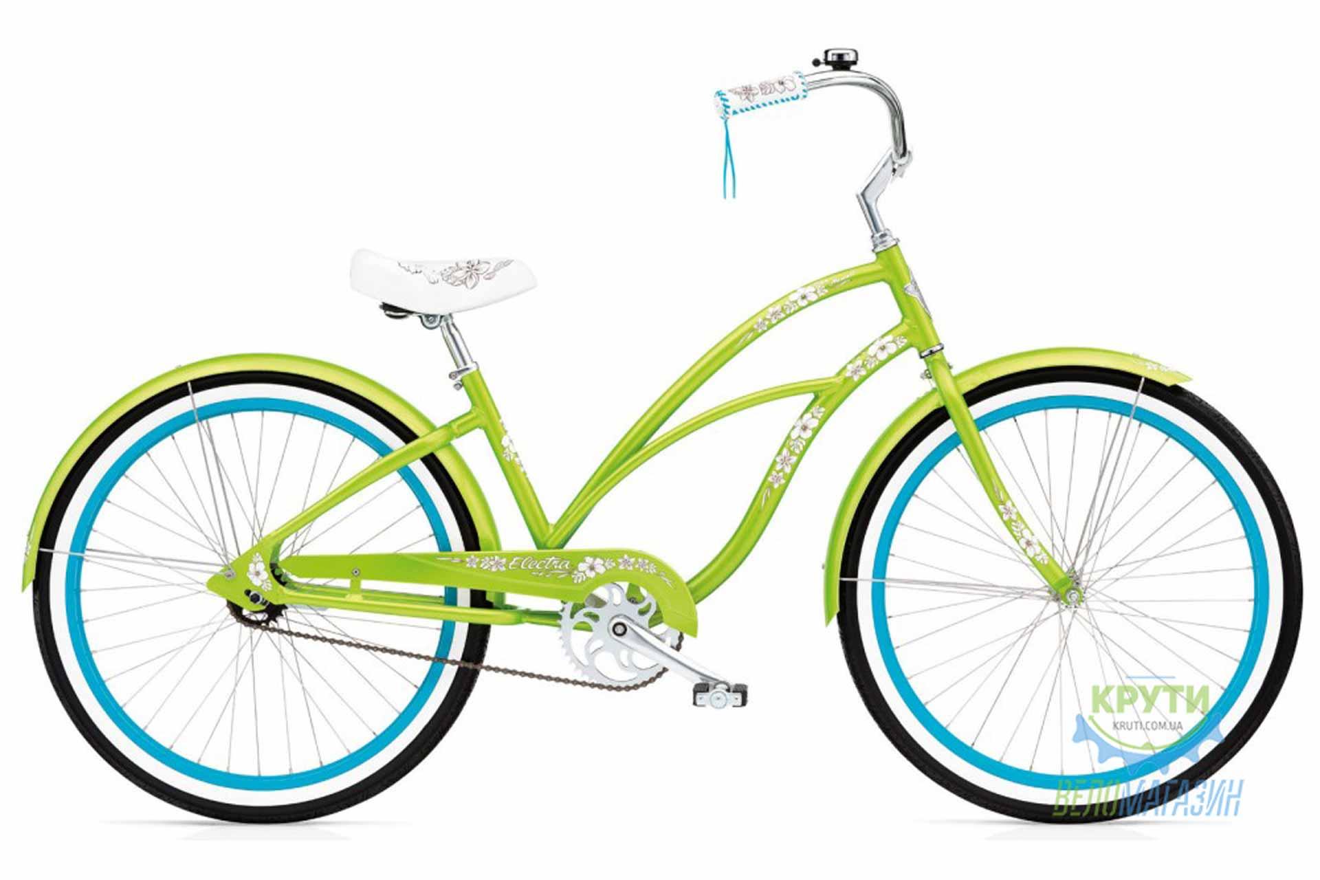 Велосипед 26 Electra Hawaii Custom 3i (Alloy) Ladies' Lime metallic