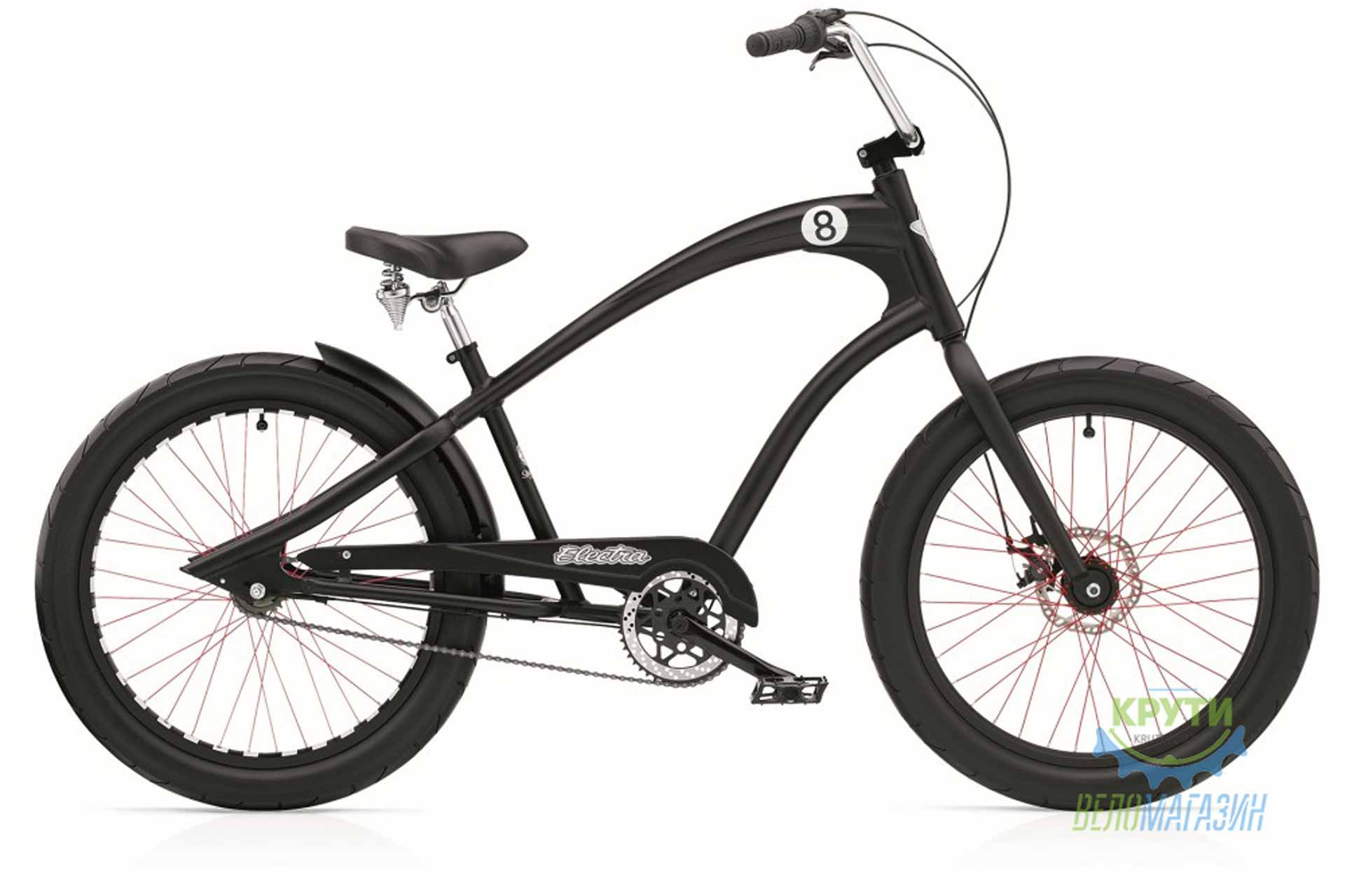 Велосипед 24 Electra Straight 8 3i (Alloy) disc satin Black