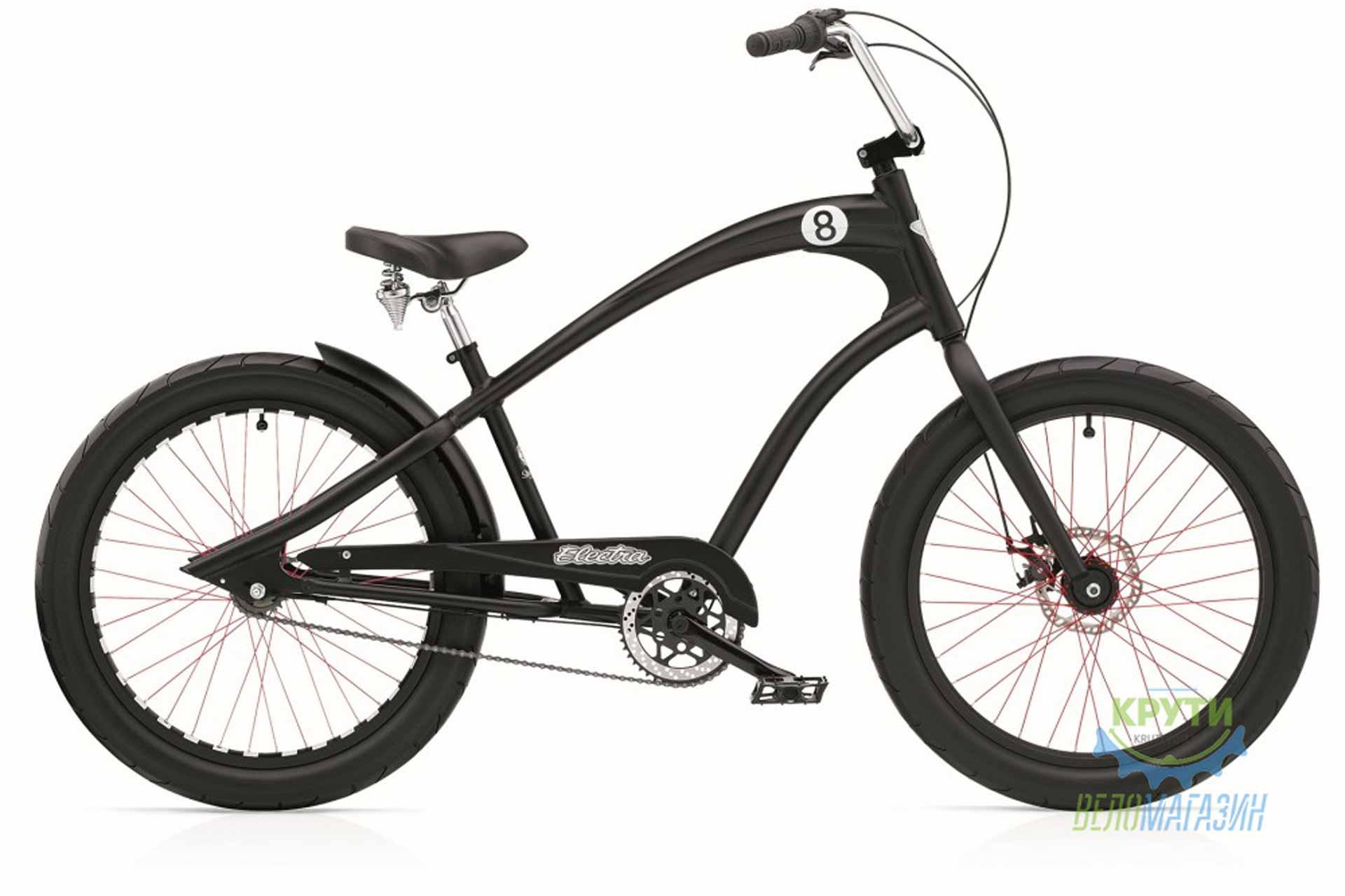 Велосипед 24 ELECTRA Straight 8 3i (Алюм) disc satin Black
