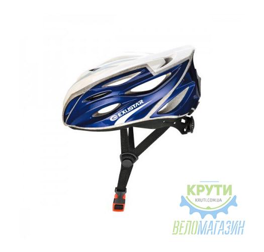 Шлем EXUSTAR BHR104-1 22 отверстия регулятор размер L 59-60 см синий