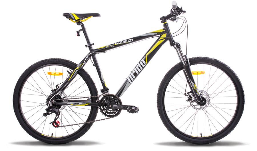 Велосипед 26 PRIDE XC-250 17 2014 черно-желтый