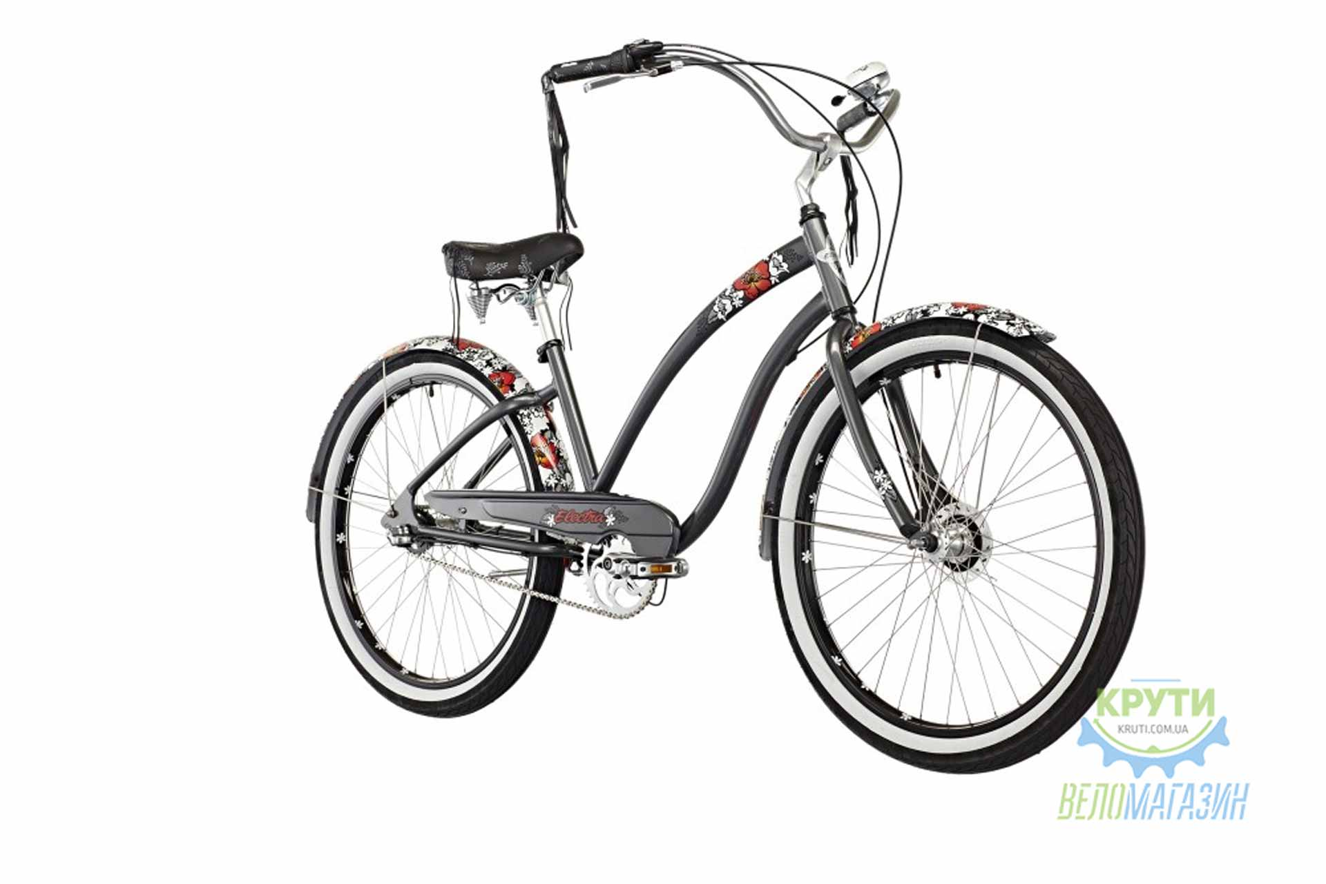 Велосипед 26 ELECTRA Wild Flower 3i LadiesDark Grey Metallic