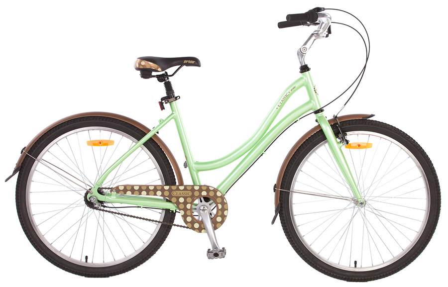 Велосипед 26 PRIDE Classic 2014 зелено-коричневый