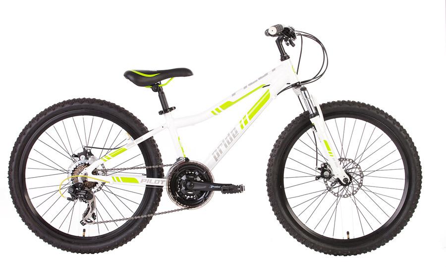 Велосипед 24 PRIDE PILOT 2014 бело-зеленый