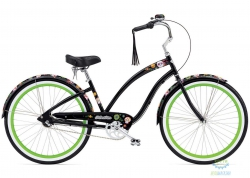 Велосипед 26 ELECTRA Sugar Skulls 3i (Алюм) Ladies Black