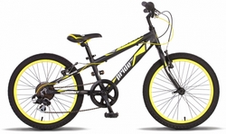 Велосипед 20'' PRIDE JOHNNY черно-жёлтый 2015