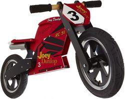 Беговел 12 Kiddimoto Heroes деревянный, с автографом Joey Dunlop TT