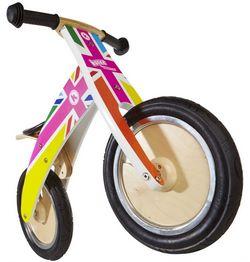 Беговел 12 Kiddy Moto Kurve разноцветный флаг