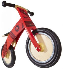 Беговел 12 Kiddy Moto Kurve красный