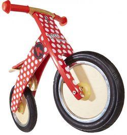 Беговел 12 Kiddy Moto Kurve красный в белый горошек