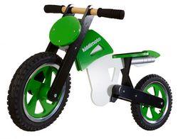 Беговел 12 Kiddy Moto Scrambler зелёно-белый