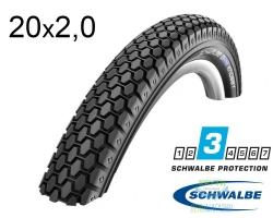 Покрышка 20x2.00 (54-406) Schwalbe KNOBBY HS160 KevlarGuard B/B SBC 50EPI