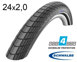 Покрышка 24 x 2.0 (50x507) Schwalbe Big Apple RaceGuard B/B-SK+RT HS430 EC