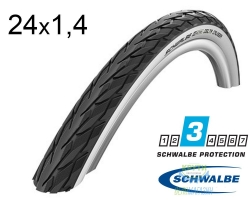 Покрышка 24x1 3/8 (37-540) Schwalbe DELTA CRUISER HS392 KevlarGuard B/W SBC 50EPI