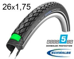 Покрышка 26x1.75 (47-559) Schwalbe MARATHON HS420 Green Guard B+RT EC, 67EPI 31B