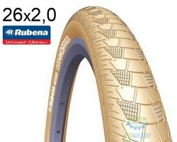 Покрышка 26x2.00 (52x559) MITAS (RUBENA) CITYHOPPER V99 Classic кремовая