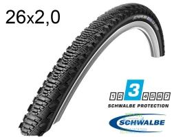 Покрышка 26x2.00 (50-559) Schwalbe CX COMP HS369 KevlarGuard B/B-SK SBC 50EPI