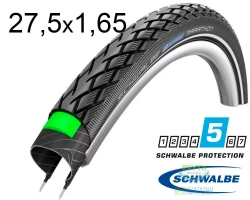 Покрышка 27.5x1.65 (44-584) 650x42B Schwalbe MARATHON HS420 GreenGuard B/B+RT EC 67EPI