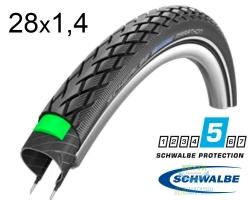 Покрышка 28x1.40 (37-622) 700x35C Schwalbe MARATHON HS420 GreenGuard EC
