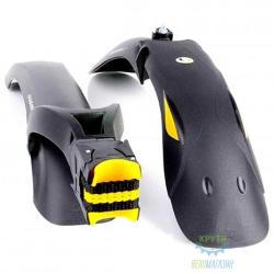 Комплект крыльев 24-29 SIMPLA Hammer 2 SDE. SPEEDstrap быстросъемное крепление, Black с желтыми вставками