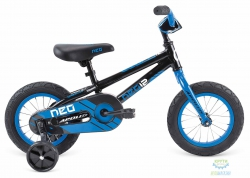 Велосипед 12 APOLLO Neo Boys Gloss Charcoal / Gloss Blue 2017