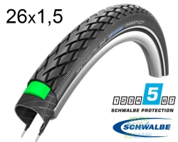 Покрышка 26x1.50 (40-559) Schwalbe MARATHON HS420 Green Guard B+RT EC, 67EPI