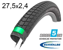 Покрышка 27.5x2.40 650B (62-584) Schwalbe SUPER MOTO-X GreenGuard,SnakeSkin