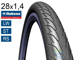Покрышка 700 x35C RUBENA Flash V66 (37-622) Classic (LW)(ST)(RS) черн.