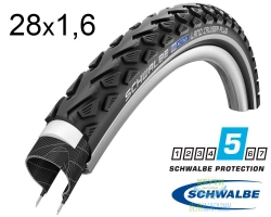 Покрышка 28x1.60 700x40C (42-622) Schwalbe LAND CRUISER PLUS HS450 B/B+RT SBC