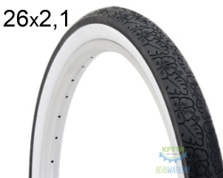 Покрышка 26x2.125 Electra Bloss Whitewall