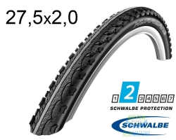Покрышка 27.5x2.00 650B (50-584) Schwalbe HURRICANE Performance HS352 DC B/B-SK