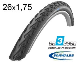 Покрышка 26x1.75 (47x559) Schwalbe LAND CRUISER K-Guard B/B SBC