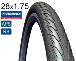 Покрышка 28 x 1.75 (47x622) RUBENA Flash V66 Classic (APS)+(RS) черн.