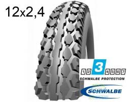 Покрышка 12x1/2x2 1/4 (62-203) Schwalbe HS158 K-Guard Reinf. GR/GR GRC