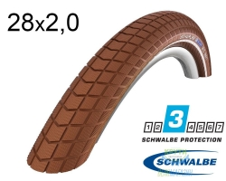 Покрышка 28x2.00 (50-622) Schwalbe BIG BEN HS439 K-Guard BN/BN+RT SBC, 50EPI