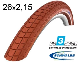 Покрышка 26x2.15 (55-559) Schwalbe BIG BEN K-Guard BN/BN+RT HS439 SBC, 50EPI 37B