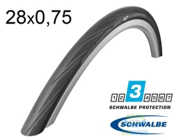 Покрышка 28x0.75 (20-622) Schwalbe LUGANO HS384 KevlarGuard B/B-SK SiC 50EPI