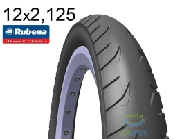 Покрышка 12 1/2х2х2 1/4 (54x203) MITAS (RUBENA) GOLF V63 Pre Classic черная