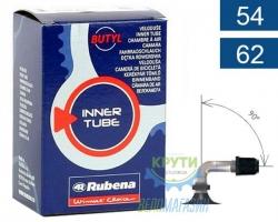 Камера 12 x 1/2х2.10-2.50 (54/62x203) SV90, наклон 90, поворот 90 Mitas (RUBENA) Classic N08, BSC 0.9mm в коробке