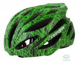 Шлем Green Cycle Alleycat размер 54-58см черно-зеленый