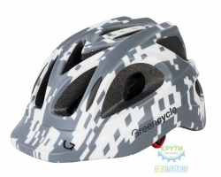 Шлем Green Cycle Space Invader размер 54-58см серо-белый