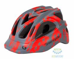 Шлем Green Cycle Space Invader размер 54-58см серо-красный