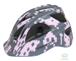 Шлем Green Cycle Space Invader размер 54-58см серо-розовый