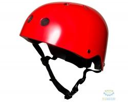 Шлем детский Kiddimoto красный металлик, размер M 53-58см